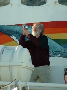 2006 Sjoerd in actie op de Arctic Sunrise een schip van Greenpeace